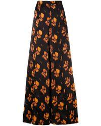 L'Autre Chose - Floral Wide Leg Trousers - Lyst