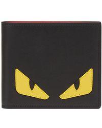 Fendi - Black Bag Bugs Bifold Wallet - Lyst