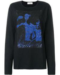 Wales Bonner - Print Long-sleeve Sweatshirt - Lyst