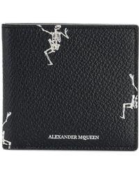 Alexander McQueen - Funny Bones Billfold Wallet - Lyst
