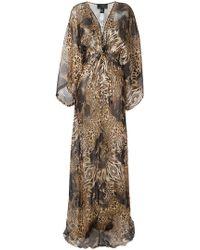 Philipp Plein - Patterned Long Dress - Lyst