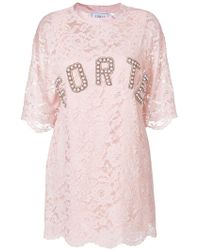 Forte Couture - Lace T-shirt Dress - Lyst
