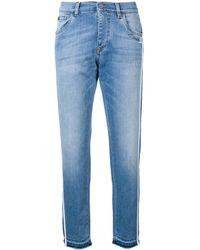 Dolce & Gabbana - Tapered Side Stripe Jeans - Lyst