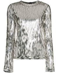Off-White c/o Virgil Abloh - Sequin Embellished Top - Lyst