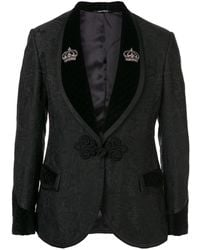 Dolce & Gabbana - Floral Jacquard One Button Suit - Lyst