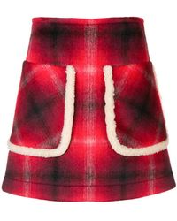 N°21 - Checked A-line Skirt - Lyst