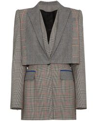 Alexander McQueen - Prince Of Wales Checked Wool Blazer - Lyst