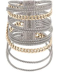 John Hardy - Adwoa Aboah 18kt Yellow Gold And Silver Classic Chain Multi-row Bracelet - Lyst