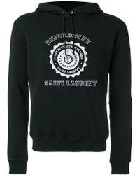 Saint Laurent - Université Seal Printed Hoodie - Lyst