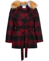 Forte Couture - Checked Belted Coat - Lyst