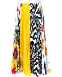 MSGM - Pleated Multi-print Skirt - Lyst