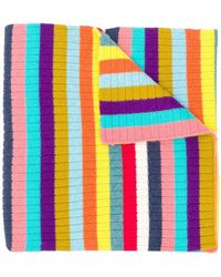 Majestic Filatures - Colour-block Striped Scarf - Lyst