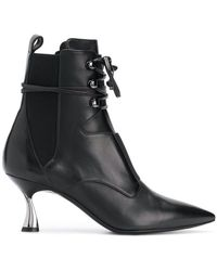 Casadei - Heeled Lace Up Ankle Boots - Lyst
