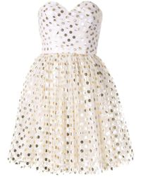 Bambah - Gold Polka Mini Dress - Lyst