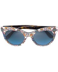 bd289655795 Lyst - Dolce   Gabbana Lace Ortensia Extreme Cat Sunglasses