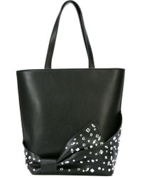 Christian Siriano - Embellished Bow Shopper Tote - Lyst