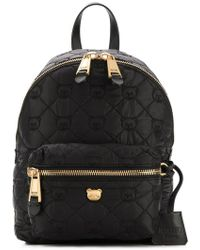Moschino - Black Quilted Teddy Bear Motif Backpack - Lyst