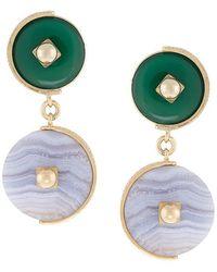 Crystalline - Lace Agate Earrings - Lyst