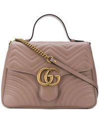 357346fa8f5 Gucci - GG Marmont Medium Top Handle Bag - Lyst