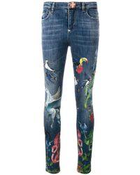 Philipp Plein - Printed Slim-fit Jeans - Lyst