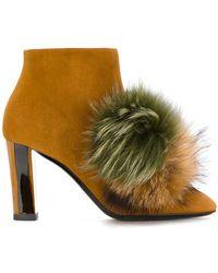 Pollini - Pom Pom Detail Boots - Lyst