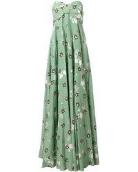 Valentino Vestido de fiesta con estampado floral - Verde