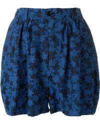 Julien David - Embroidered Floral Shorts - Lyst