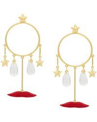 Eshvi Circle Drop Earrings