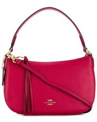 0661c9f1fe44 Lyst - MICHAEL Michael Kors Sutton Leather Bag in Red