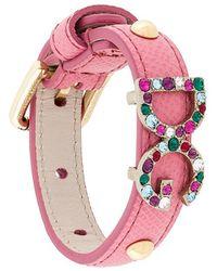 Dolce & Gabbana   Dg Crystal Detail Bracelet   Lyst