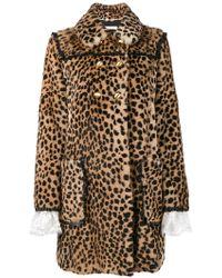 Philosophy Di Lorenzo Serafini | Double Breasted Animal Print Fur Coat | Lyst