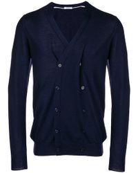 Paolo Pecora - Double Breasted V-neck Cardigan - Lyst