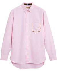 Burberry - Check Detail Shirt - Lyst