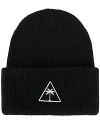 Palm Angels - Logo Patch Beanie Hat - Lyst