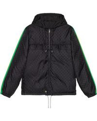 4b3d0bd35 Gucci Technical Jersey Bomber Jacket in Black for Men - Lyst