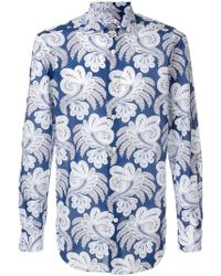 Kiton - Paisley Print Shirt - Lyst
