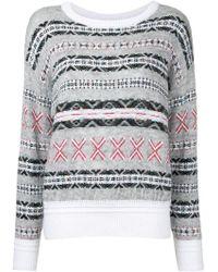 Red valentino Fair Island Print Sweater | Lyst