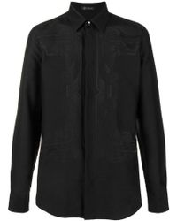 Versace - Embroidered Shirt - Lyst