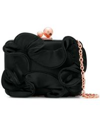 Sophia Webster - Baw18038 Black Ruffle Natural (other)->satin Ribbon - Lyst