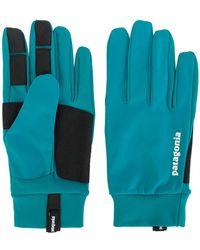 Patagonia - Panelled Logo Gloves - Lyst