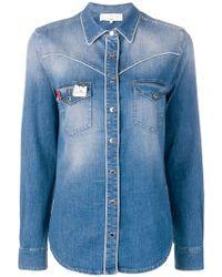 Elisabetta Franchi - Branded Pin Denim Shirt - Lyst