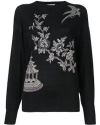 Ms Min - Floral Pattern Jumper - Lyst