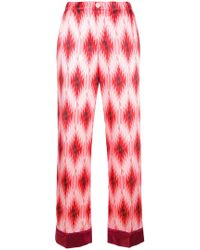 F.R.S For Restless Sleepers - Geometric Print Trousers - Lyst