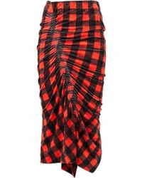 Preen By Thornton Bregazzi - Gingham Gathered Skirt - Lyst