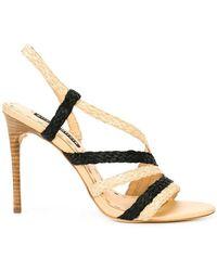 Alice + Olivia - Woven Stiletto Sandals - Lyst