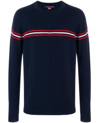 Perfect Moment - Orelle Stripe Detail Crewneck Sweater - Lyst