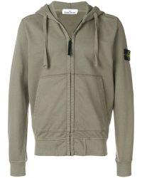 Stone Island - Hooded Zipped Jacket - Lyst