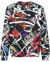Love Moschino - Logo Graffiti Sweatshirt - Lyst