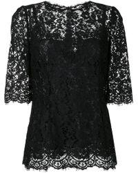 Dolce & Gabbana - Lace Detail Blouse - Lyst