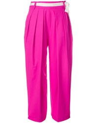 Eudon Choi - Belted Waist Cropped Trousers - Lyst